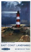 Happisburgh, Norfolk. East Coast Landmarks. Vintage BR Travel Poster by Frank H Mason. 1960